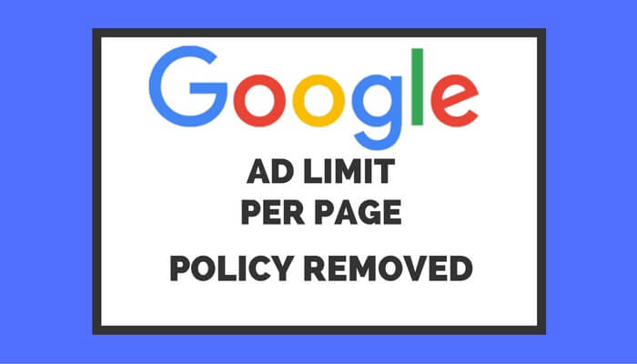 Google Adsense Ad Limit Removed